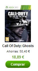 Aprovecha la oferta del megalunes de Zavvi y consigue el COD Ghosts por menos de 20€