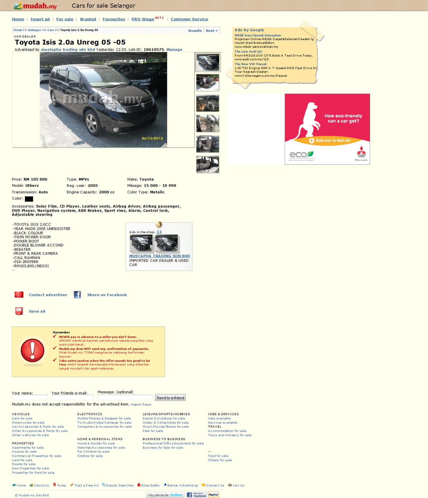 Mudah My Selangor Cars Sale 1020