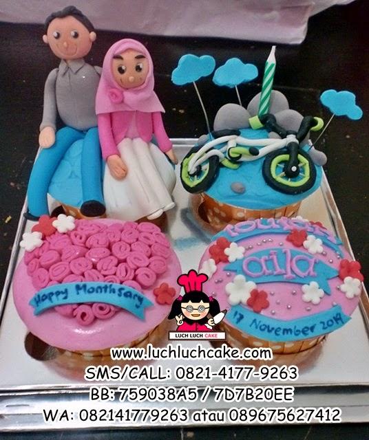 Cupcake Monthsary Tema Sepeda Gunung Daerah Sidoarjo - Surabaya