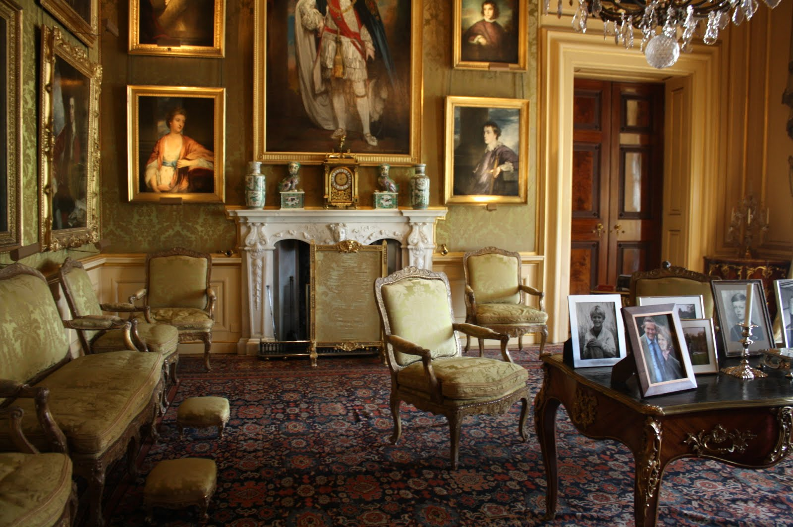 blenheim palace green drawing room