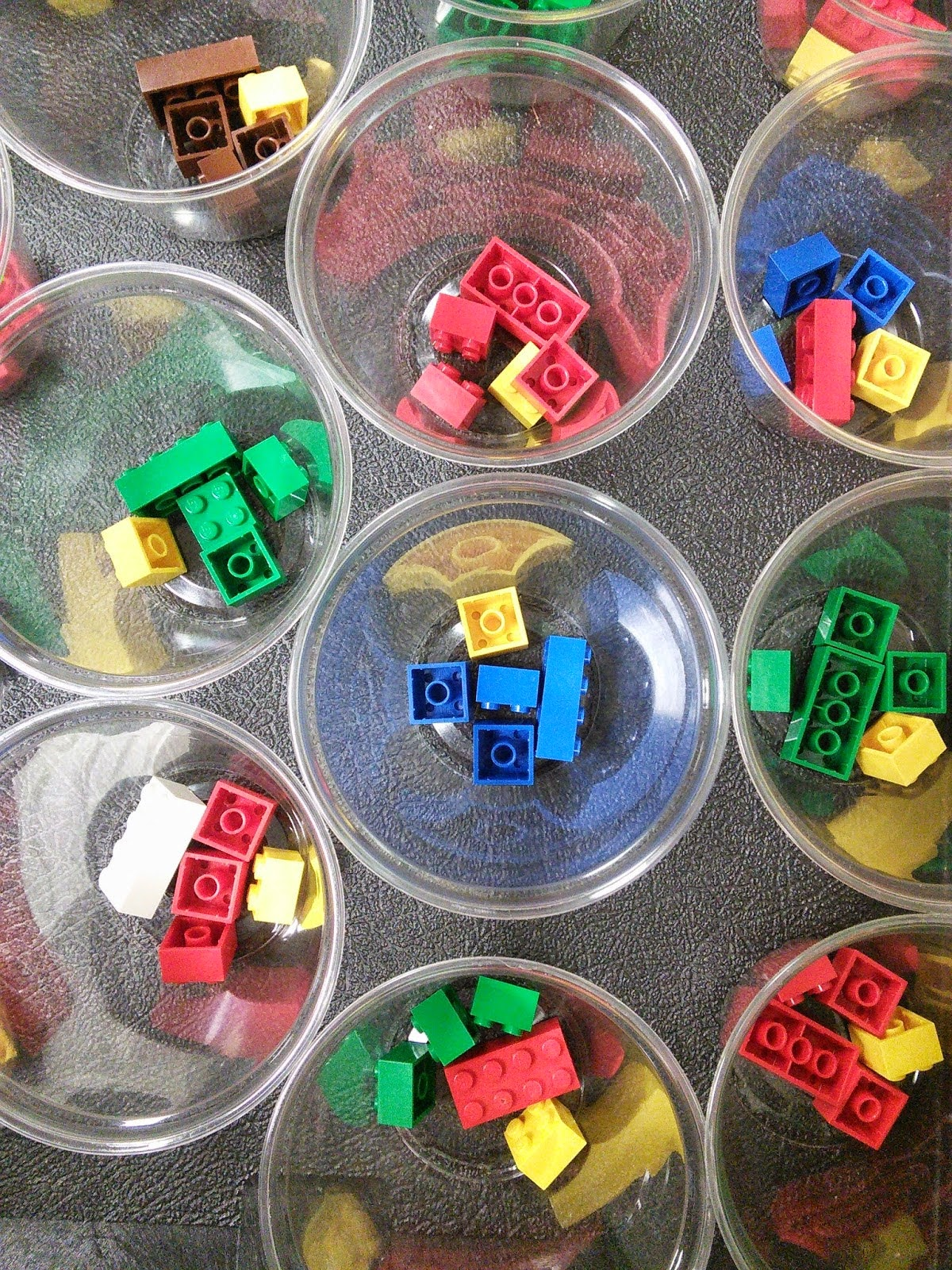 image of Lego pieces in cups