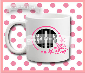 Monogram Starfish Mug
