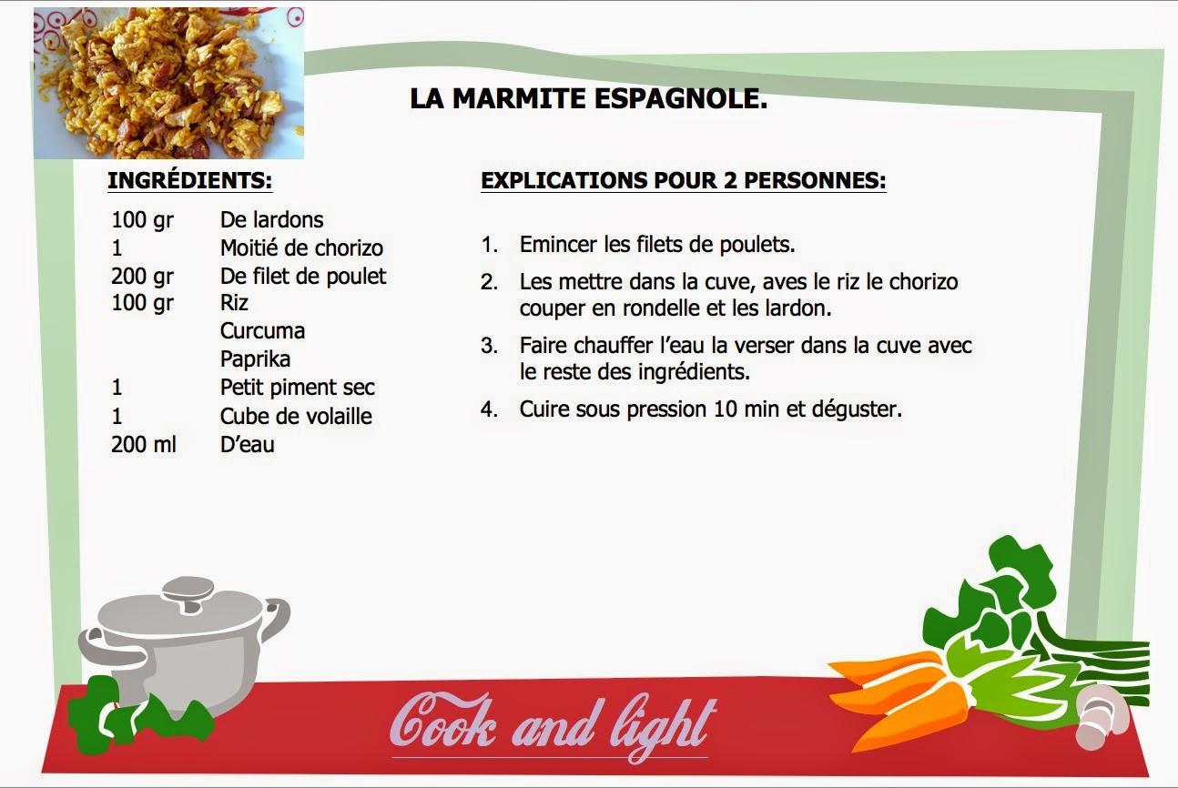 cook and light la marmite espagnol. Black Bedroom Furniture Sets. Home Design Ideas