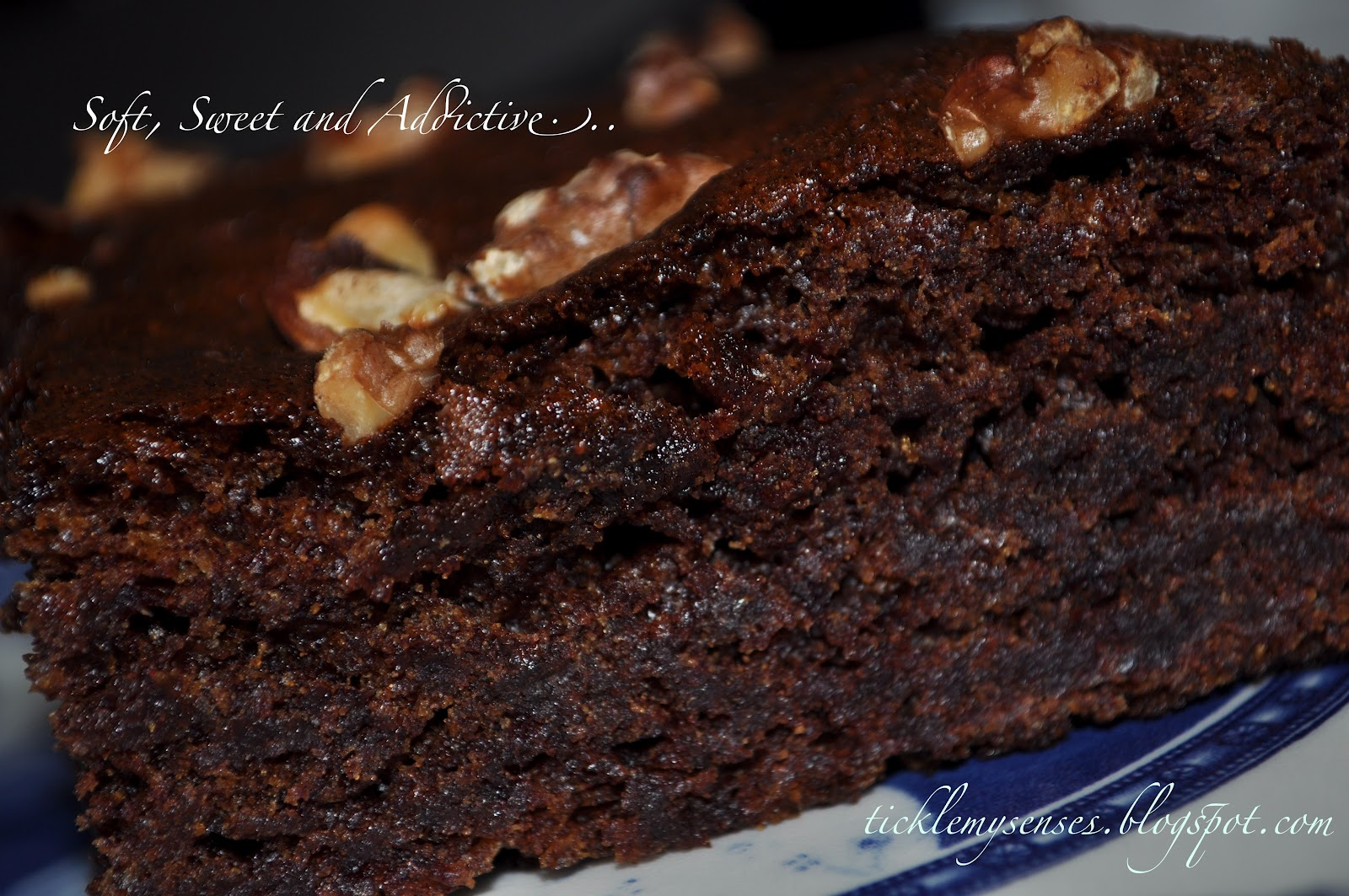 Tickle My Senses Egg Free Date And Walnut Cake