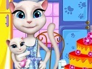 Talking Angela Cooking Cake