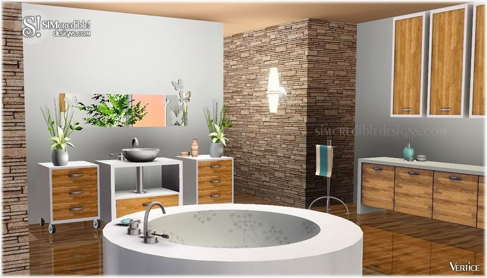 My sims 3 blog vertice bathroom set by simcredible designs for Bathroom ideas sims 3