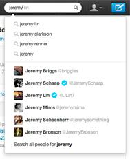 Una din cele mai vizibile modificari aduse motorului de cautare Twitter este adaugare de sugestii