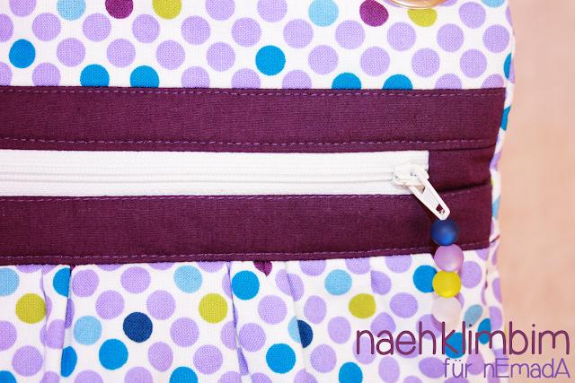 Mein Wichtelgeschenk für Bea: eine KIRA mit lila Punkten