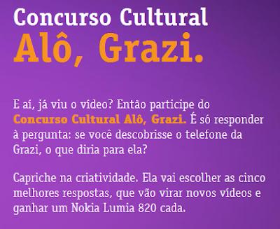 """Concurso Cultural """"Fala pra Grazi"""""""