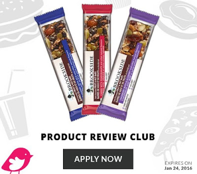 Chickadvisor Brookside Fruit & Nut Bars Product Review Club Campaign