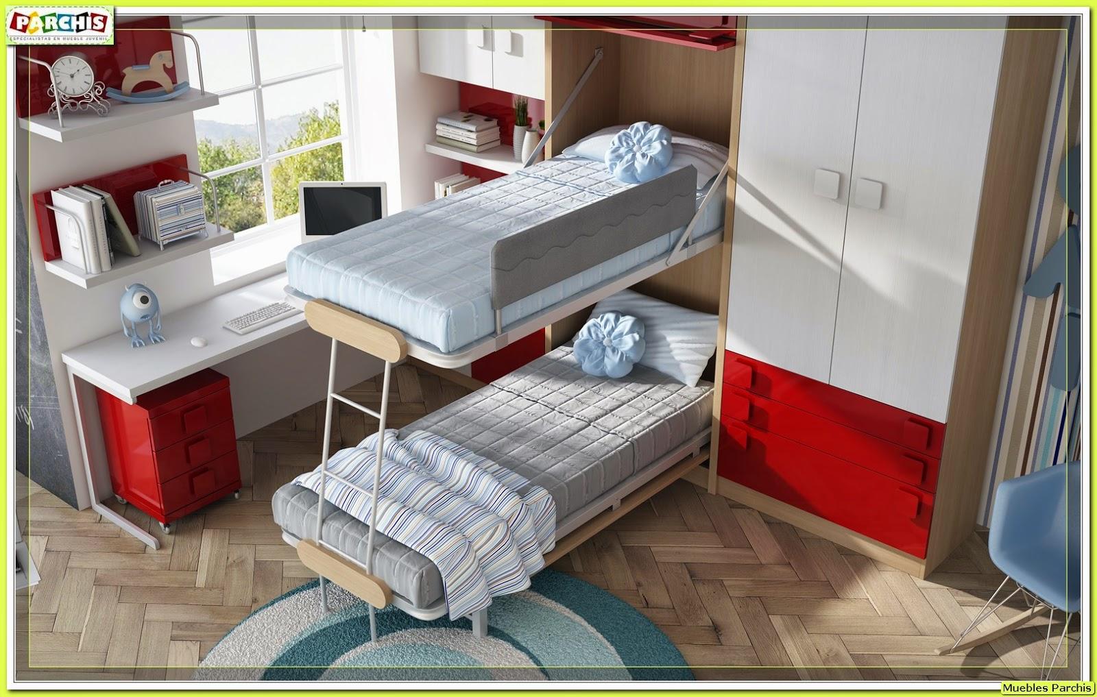 Muebles juveniles dormitorios infantiles y habitaciones for Camas en madera economicas