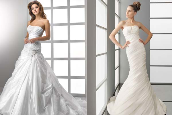 Unique Wedding Dress Wall—Ruching Wedding Dresses