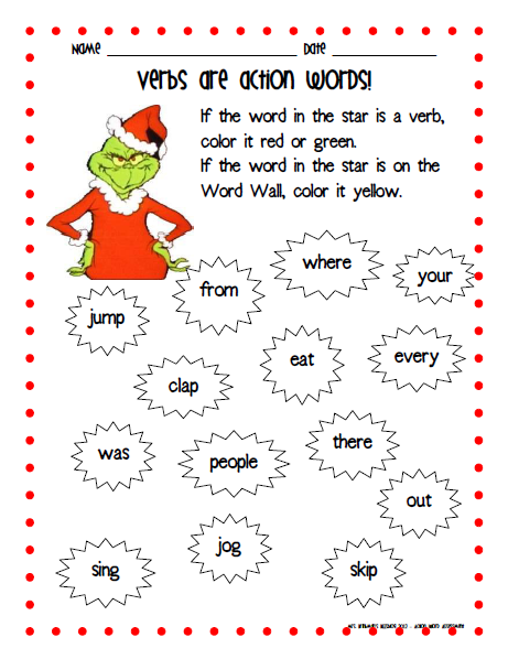 "... ""Activities On How The Grinch Stole Christmas"" – Calendar 2015"