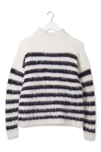 white black stripe jumper, topshop boutique stripe jumper,
