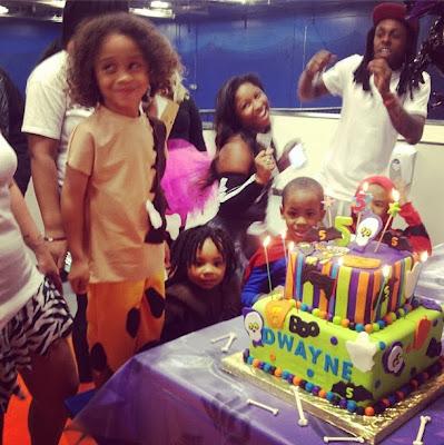 fotos de lil wayne en el cumpleaños de su hijo dwayne michael carter iii reginae sarah vivan