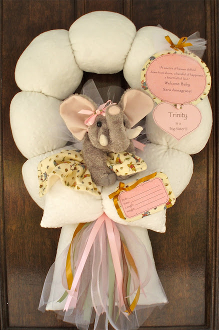 71. custom elephant baby wreath