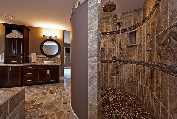 Bathroom vanities blog are oversized walk in showers the for Huge walk in shower