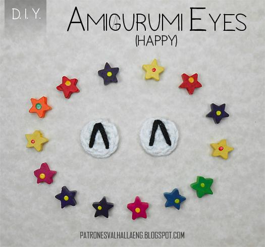 How To Crochet Amigurumi Eyes Happy Patrones Valhalla Free
