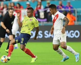 En discreto partido Colombia venció 1-0 a Perú