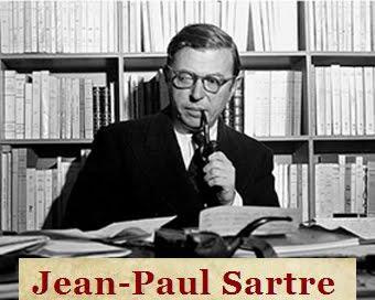 Σελίδες για τον Γάλλο φιλόσοφο Jean-Paul Sartre, 1905-1980