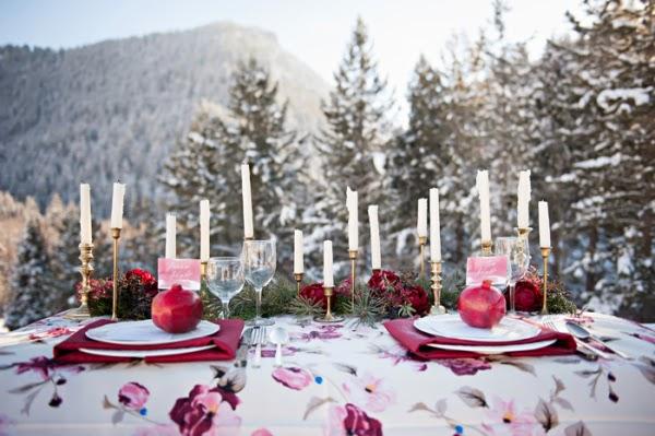 wedding matrimonio rosso bianco neve invernale