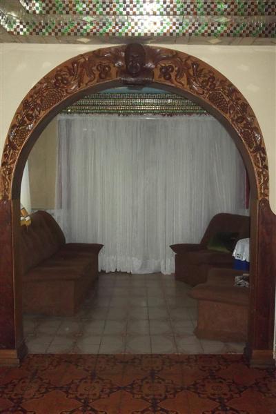 Decoracion De Sala Gris Y Azul Arcos De Madera Para Puertas