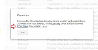 muat html biasa di gmail