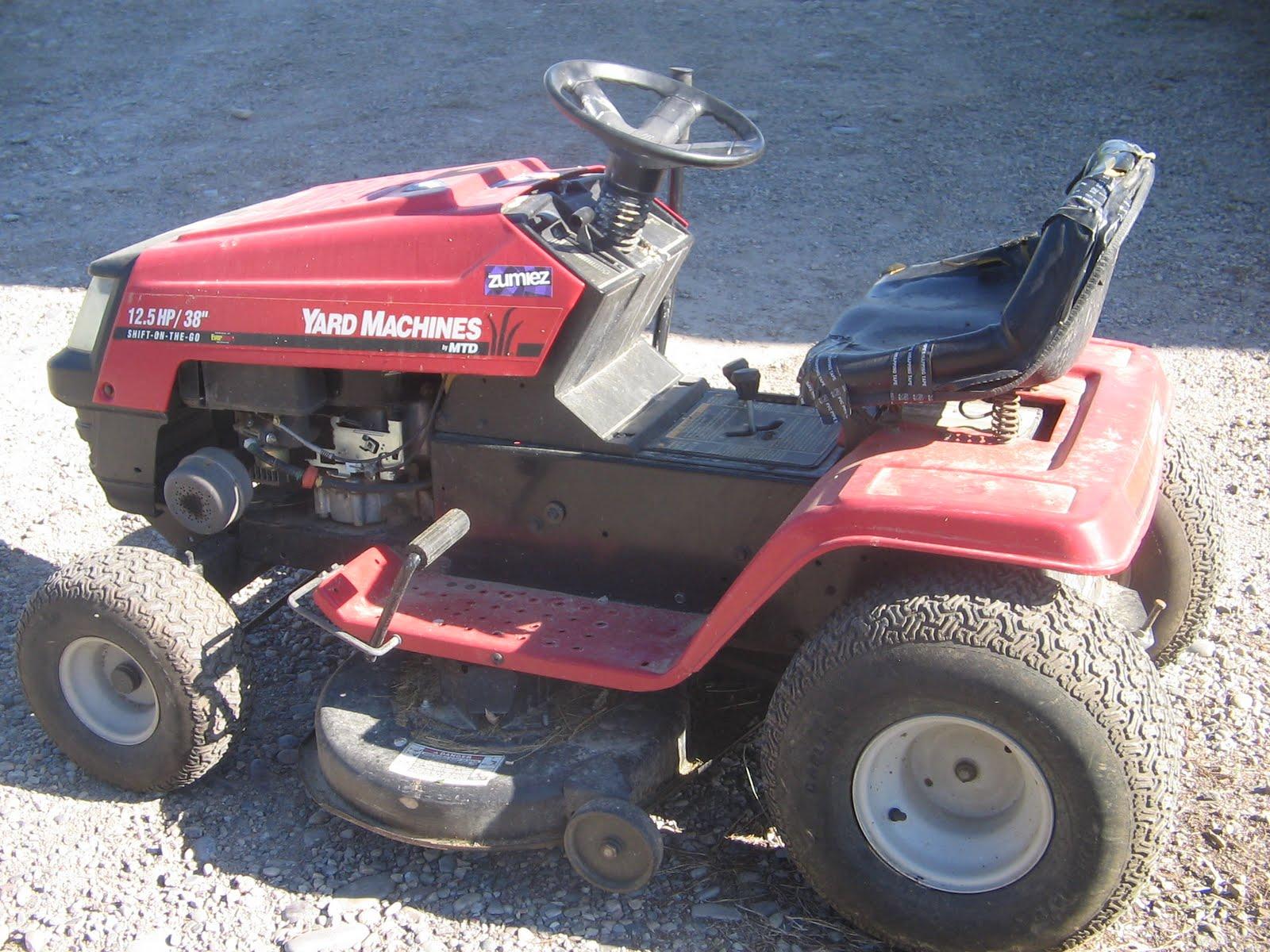Mtd Tractor 1600 : Summer days yardmachine riding lawnmower
