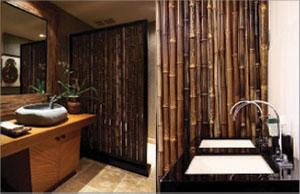bamboo wall bathroom washtafel design ideas