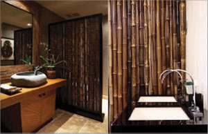 Bamboo architecture home design ideas bamboo wall for Bamboo bathroom flooring ideas