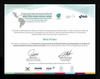 IX Seminario Internacional de la Red de Gestión por Resultados- Gobiernos Subnacionales de America