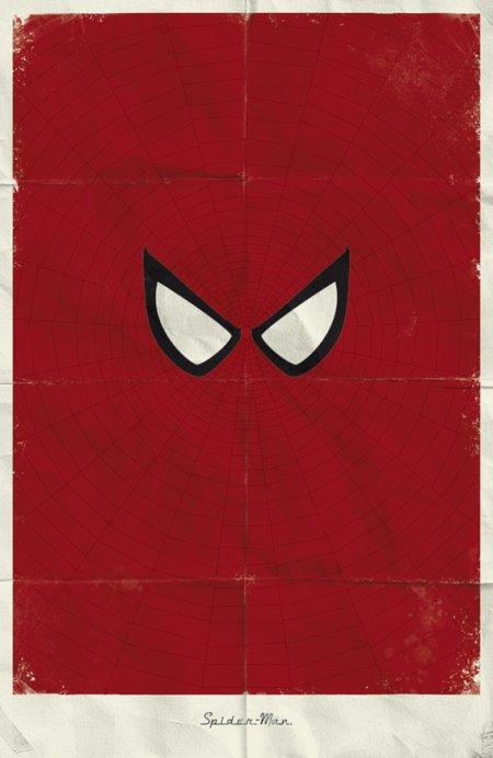 marko manev ilustração poster minimalista super heróis marvel Homem-Aranha