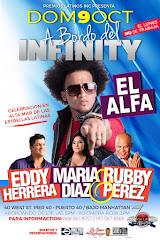 EDDY HERRERA...MARIA DIAZ..EL ALFA...RUBBY PEREZ en el INFINITY EL YATE MAS LUJOSO DE NY