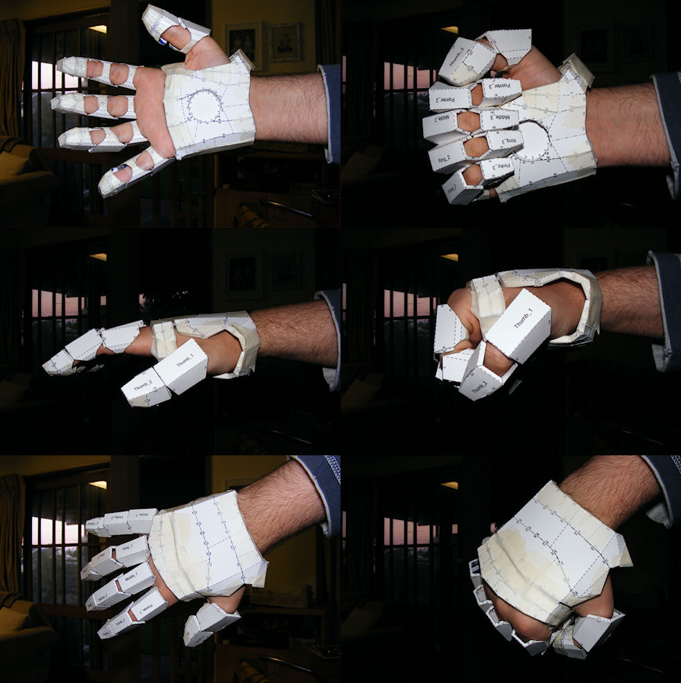 Papercraft Papercraft Iron Man Suit Arm Parts Wearable Series
