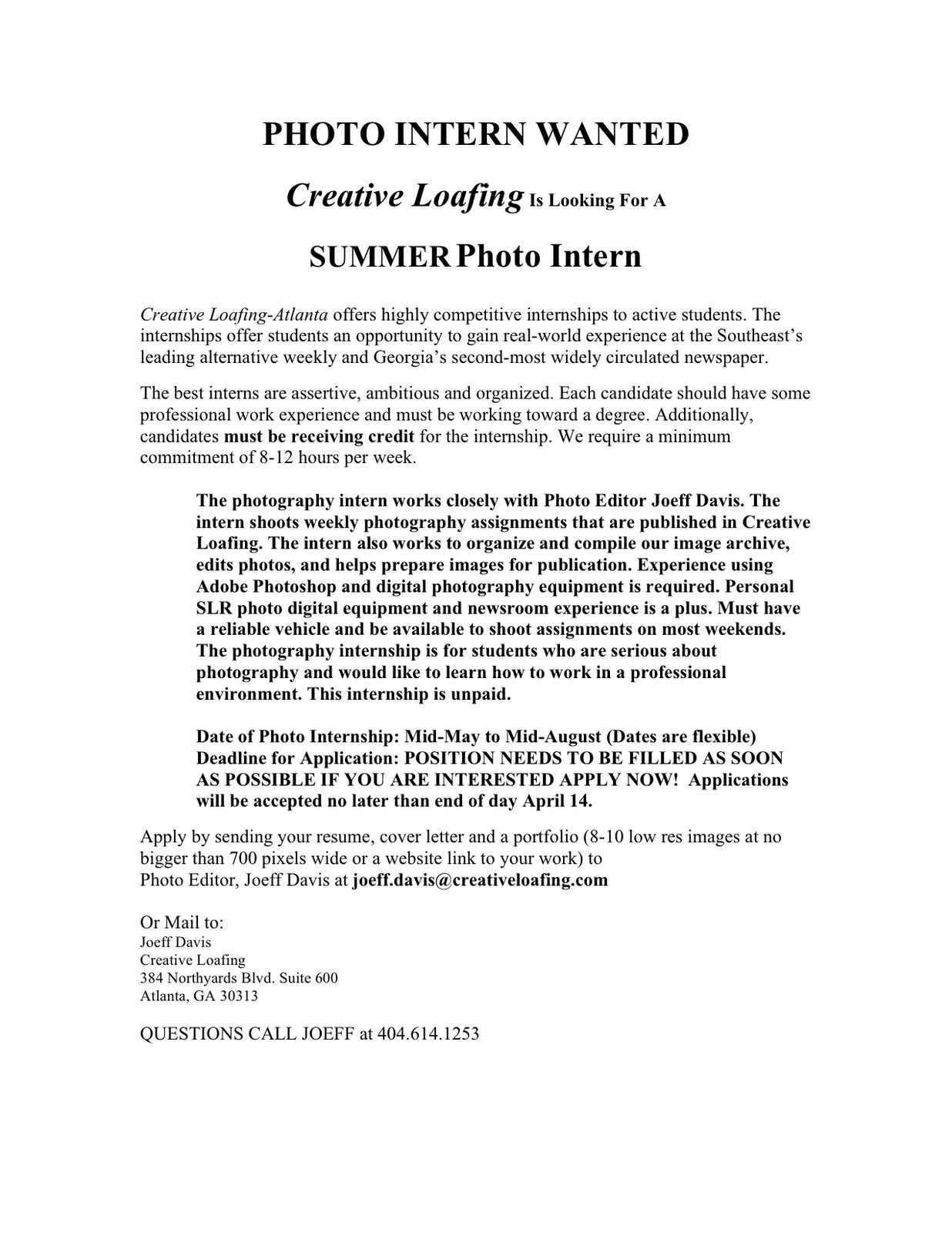 Cover Letter Design Sample