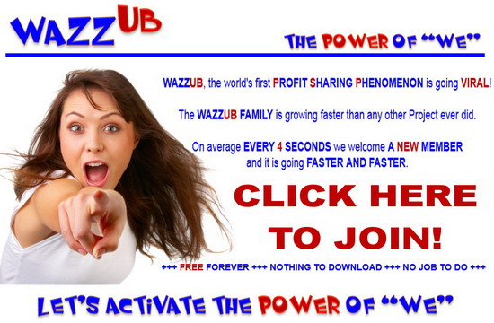 WazzUb is the fastest growing business on the internet right now!