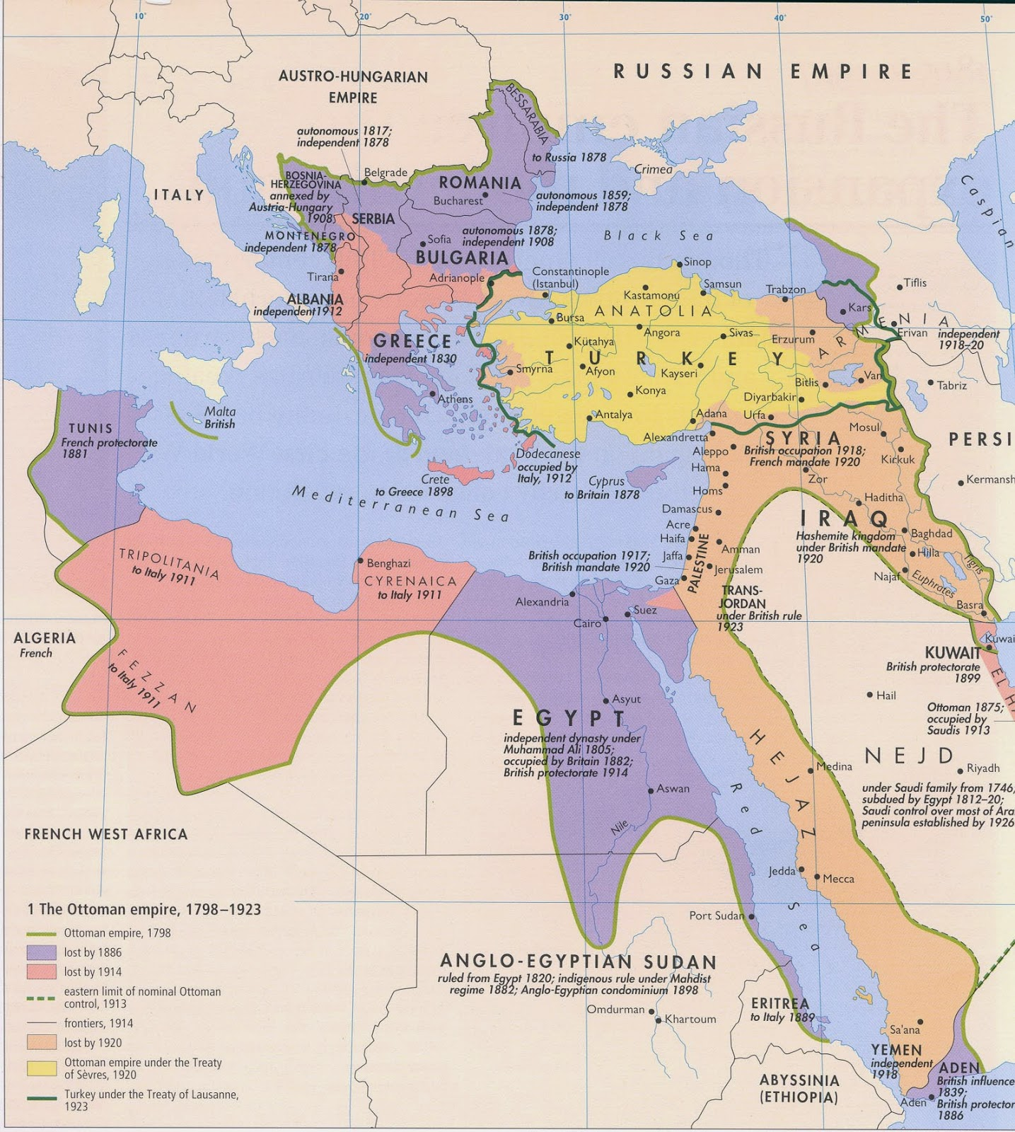 The gallery for --> Ottoman Empire Map 1914