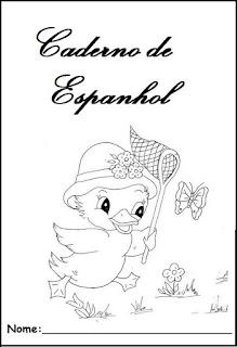 Capa de caderno espanhol