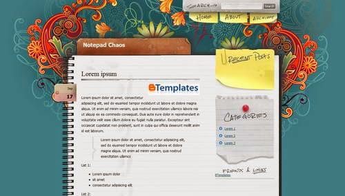 Blogger, Template