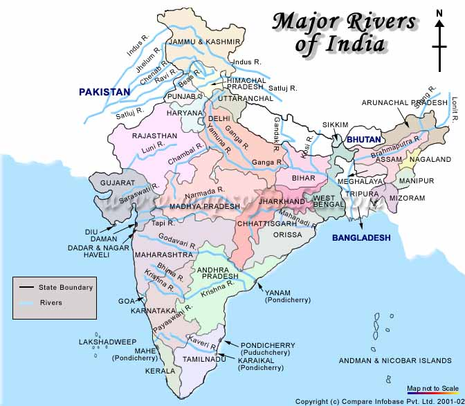 New Major Rivers Of INDIA - 3 major rivers