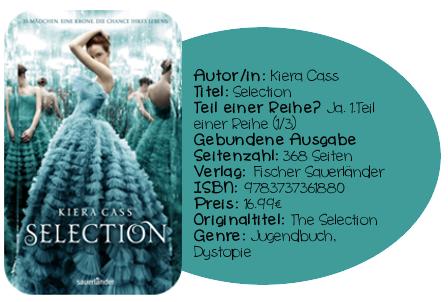 http://www.amazon.de/Selection-Kiera-Cass/dp/3737361886/ref=sr_1_1?ie=UTF8&qid=1400158417&sr=8-1&keywords=Selection