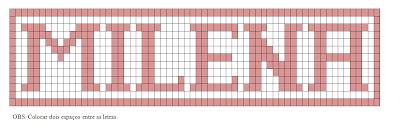 Gráfico de letras do alfabeto para crochê