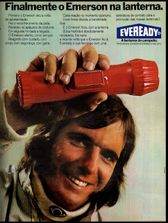 propaganda lanterna Eveready - 1973.  1973; os anos 70; propaganda na década de 70; Brazil in the 70s, história anos 70; Oswaldo Hernandez;