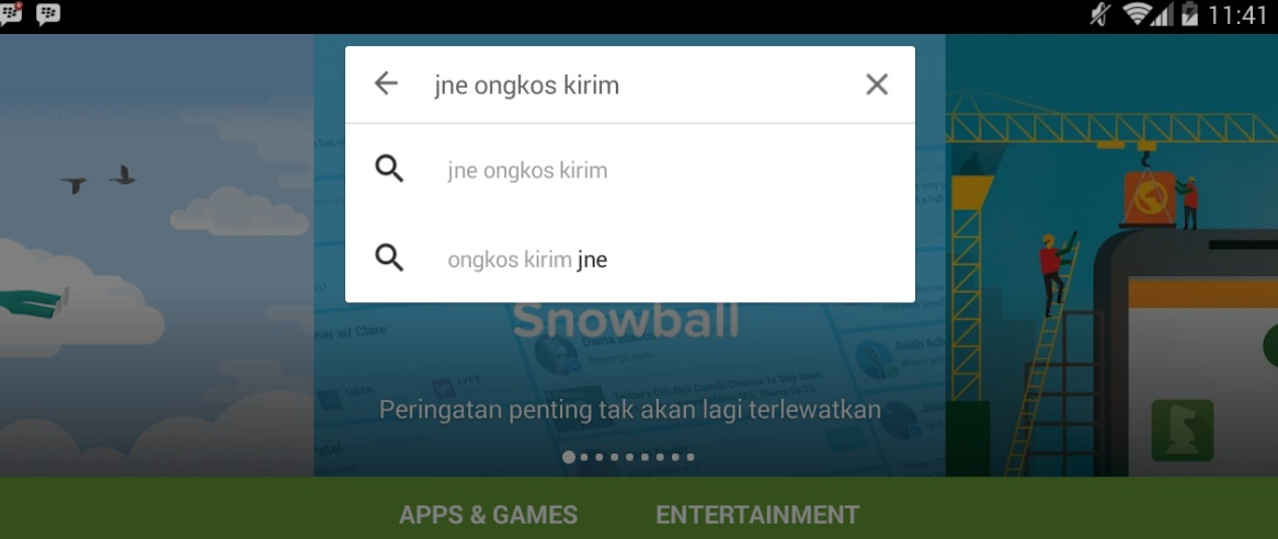 Guntur Sapta: Aplikasi Cek Ongkir/Resi JNE Di Hape Android