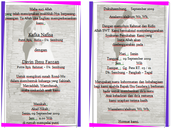 Download Template Motif Undangan Pernikahan Format Word Gampang Diedit
