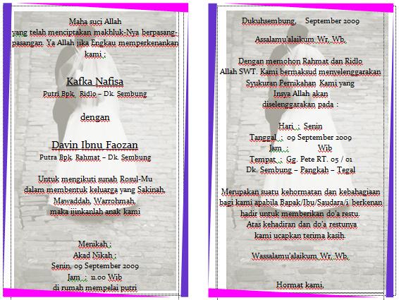 ... Download Format Undangan Pernikahan Ms Word Genuardis Portal Download