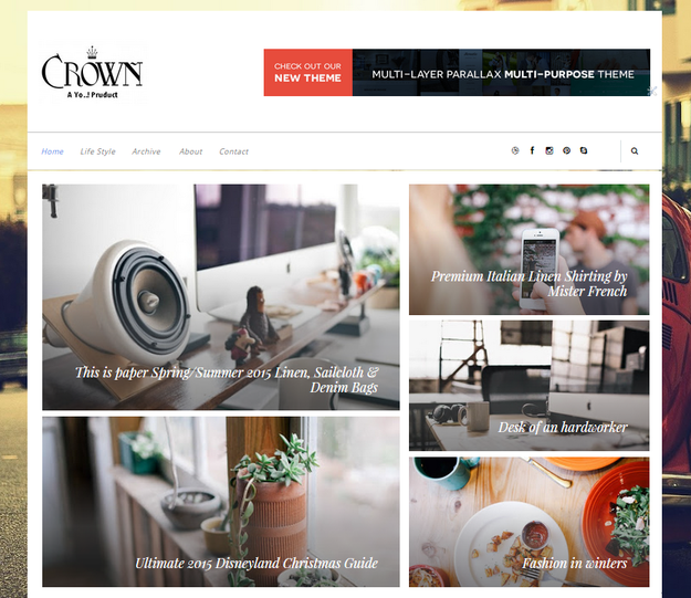 crown blogger template
