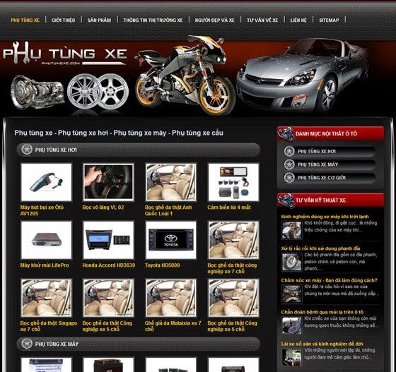 thiết kế website bán phụ tùng chuyên nghiệp