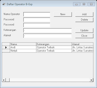 Cara Membuat Daftar Operator Billing Warnet Menggunakan Aplikasi Billing Explorer Deskpro 6 2007