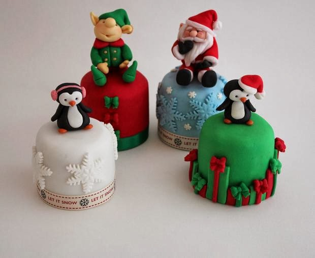 Mini Xmas Cake Designs : WONDERLAND: CHRISTMAS CAKE DECORATING IDEAS
